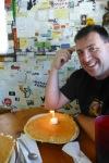 Tony's birthday pancake