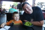 Tony's birthday dinner.  Now that's a load of guac.
